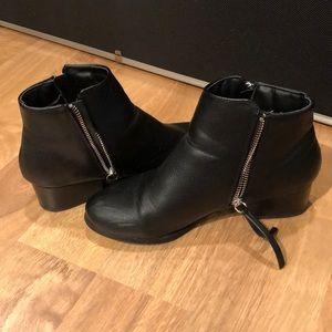 Black womens bootie heels
